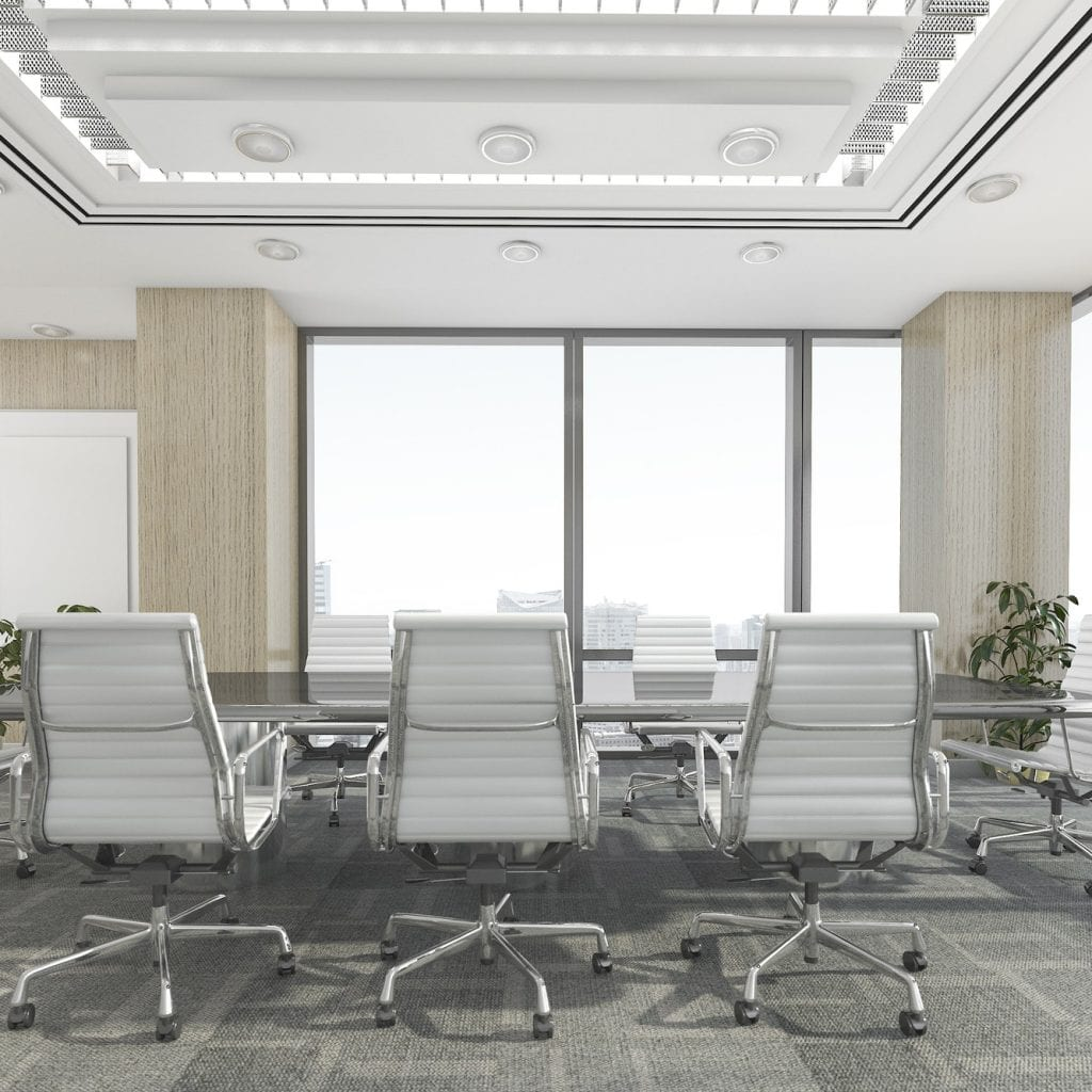 3d rendering meeting room on office building