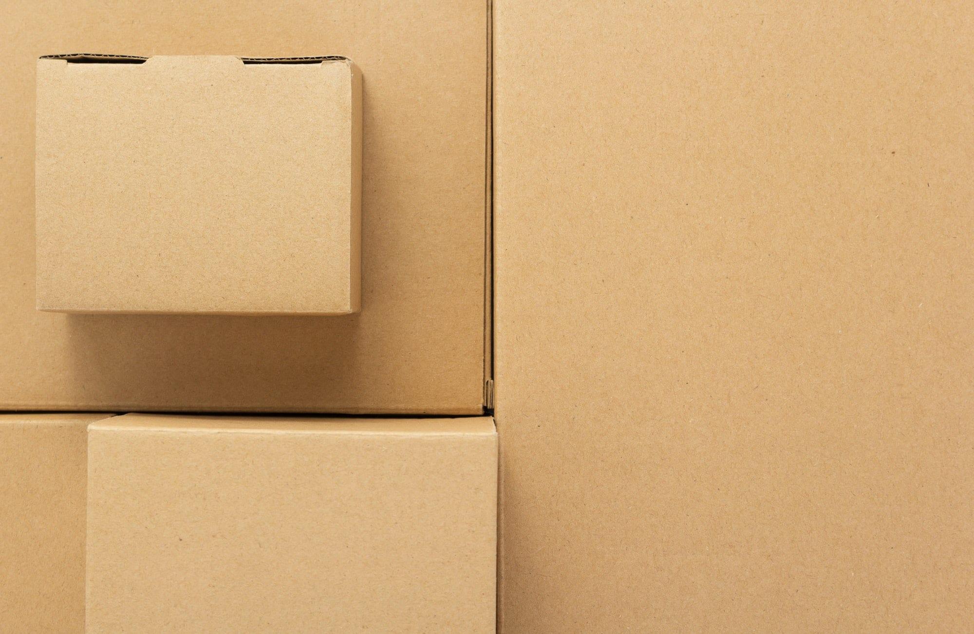 cardboard box as background