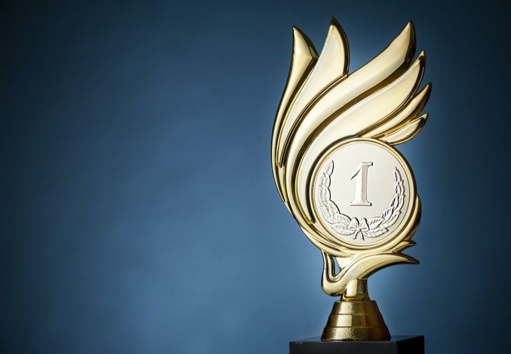 Championship trophy for the first place winner